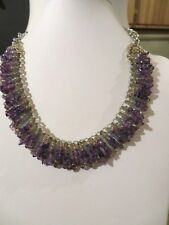 NEW TALBOTS PURPLE STONE CHIP NECKLACE