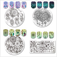 BORN PRETTY Nail Art Stamping Plates Feather Dream Catcher Templates