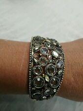 Statement Sorrelli grey crystal wide cuff bracelet