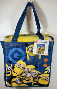 New Despicable Me Tote Bag & Blanket 40 x 50 Throw RARE HTF