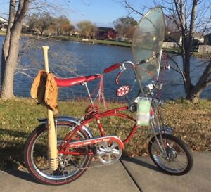 1969 Schwinn 5-Speed Apple Krate Stingray Bicycle With Rare Stingray Windshield.