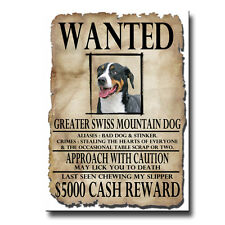 Greater Swiss Mountain Dog Wanted Poster Fridge Magnet