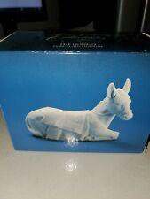Avon Nativity The Donkey White Porcelain Bisque Figurine Vintage With Box 1984