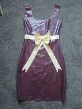 Latex Rubber Dress Size 8 trans purple with bow