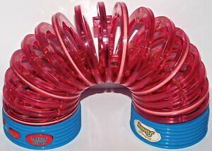 The Electronic Slinky Lights & Sounds Handheld Game Tested Works Great Rare Toy