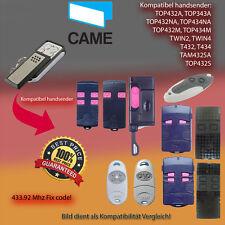 CAME TOP432,432EV,432M,432SA,432S,TWIN2,TWIN4 433.92MHz für CAME Antriebe,KLONE