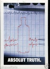 Cartolina Promocard Absolut Vodka Truth  #82