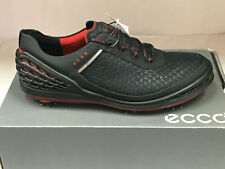 NEW ECCO CAGE EVO BLACK/BRICK Men's Golf Shoes 44 10-10.5 WERE $210