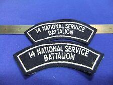badge 14 national service battalion shoulder title patches felt embroidered
