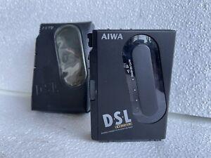 AIWA Stereo Kassettenspieler Walkman tragbar HS-P202 mit Ledertasche Retro Kult