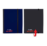 Ultra Pro 4 Pocket FLIP PRO BINDER BLUE/BLACK 20 Pages 160 Gaming/Trading Cards