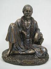 "Shirdi Sai Baba Statue 6.5"" Seated Cold Cast Bronze Hindu Guru Fakir India"