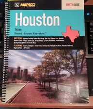 Houston TX Mapsco Street Atlas *Rare!
