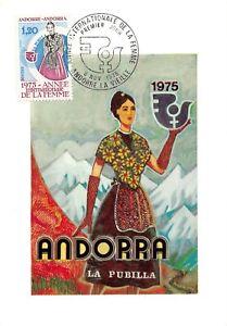 Tarjeta Máximo FDC Andorra Año Internacional De La Mujer 1975