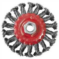 "4"" 100mm Twist Knot Wire Wheel Brush M14 Thread Angle Grinder Spinning Wheel"