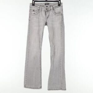 Underground Soul Womens Size 3 Light Wash Flared Gray Jeans
