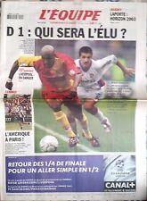 L'Equipe Journal 9/04/2002; Lens-Lyon/ Liverpool en danger/ Andy Roddick/