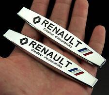 2pcs Car Metal chrome Fender Badges Emblems Decal Sticker For sports Racing NEW