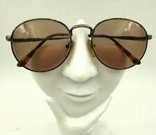 Vintage Clear Vision Tortoise Gold Metal Oval Sunglasses Hong Kong Frames Only