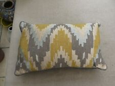 John Lewis stunning embroidered cushion grey/silver/mustard feather insert