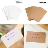 Blank Greeting Mini Card DIY Vintage Kraft Paper Gift Craft Message Note Cards