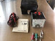 Vintage Itt General Controls Millivoltmeter +Case and instruction 500R106
