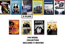 Vin Diesel 11 Film Collection Dvd: Fast & Furious, Pitch Black, Xxx, Etc.