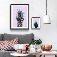 Pineapple Cactus Poster Prints Colorful Plants Picture Wall Art Canvas Painting