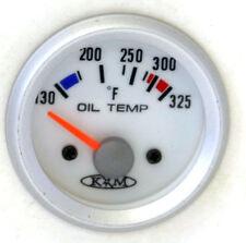 Automotive WHITE Oil Tempeprature Oil Temp GAUGE KIT 52mm (C) KM-ELOT