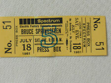 Bruce Springsteen -full ticket unused-never torn 8/18/81Spectrum in Philly