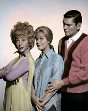 """MOOREHEAD  MONTGOMERY YORK BEWITCHED TELEVISION 8X10"""" HAND COLOR TINTED PHOTO"""