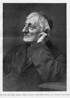 JOHN HENRY NEWMAN 1890 HARPER'S WEEKLY RELIGION CARDINAL DEACON OF ROMAN CHURCH