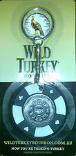 Wild Turkey Poker Keyring - Choose your colour - BNIP