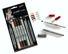 COPIC CIAO 5+1 TWIN TIPPED MARKERS PLUS 0.3 FINELINER - MANGA 5 SET (MANGA ART)