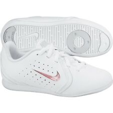 Nike Girls White Sneakers &Interchanging Inserts Cheerleading Sneakers SZ 10 1/2