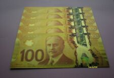 💰 5 pcs of Canada $100 Banknote 24kt Gold Foil Bill Note 🎁