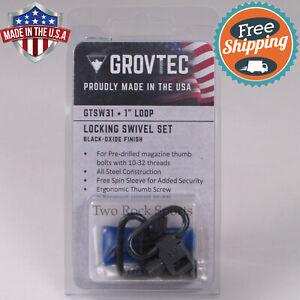 "SWIVEL SET - Mossberg 500 Maverick 88 12GA 12 Gauge - 1"" Sling BLUED - USA MADE"
