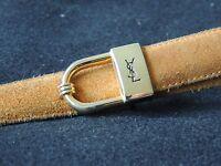 Jolie ceinture YVES SAINT LAURENT en cuir camel boucle doré taille 80 vintage