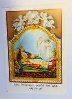 Saint Philomena Prayer Card, New from Italy It#2