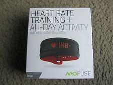 Mio Fuse Heart Rate Training + All-Day Activity Tracker, Crimson (59P-LRG-INT)