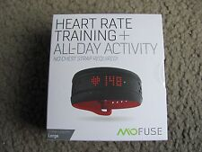 Mio Fuse Heart Rate Training + All-Day Activity Tracker, Crimson (59P-LRG-INT)