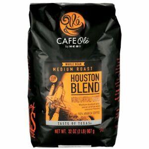 HEB Cafe Ole Taste of Texas Houston Blend Whole Bean Coffee 32 oz 2 Lb Bag