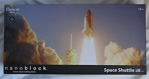 Nanoblock Deluxe Edition Space Shuttle Micro-Sized Building Block Set New in Box