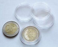 Capsules rondes 26 mm pour les pièces de 2 euros paquet de 10