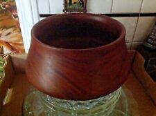 Scarce Old Vintage Georges Briard Large teak wooden bowl Haiti~Poi Pot LesLevine