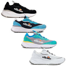 Ellesse Mens Massello Text Trainers Retro 90's Running Shoes Vintage Fashion