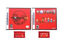 Mother 1 + 2 + 3 English Translated Earthbound Gameboy Advance GBA Game / Case