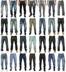 Eto Mens Designer Straight Fit Regular Leg Denim Jeans Casual Work Pants 28-48
