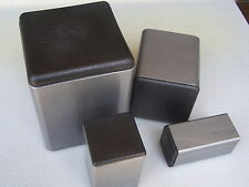 """Plastic Insert Caps the open end of 7/8"""" Square Steel Tube 14-20 gage wall/12 PK"""