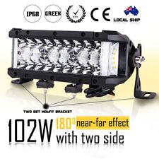 "8"" 102W Side Shooter Triple Row CREE LED Light Bar Spot Flood Cmobo Beam ATV SUV"